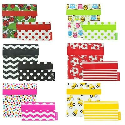 Sachi Lunch Pocket - Set of 2 Sandwich and Snack Various Designs