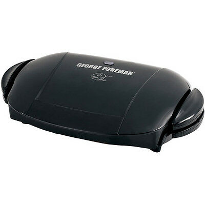 George Foreman 5-Serving Removable Plate Grill, Black