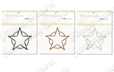 Kaisercraft Kaiser Adhesive Rhinestone Pictures ~Sherrif Star ~3 Colour Options