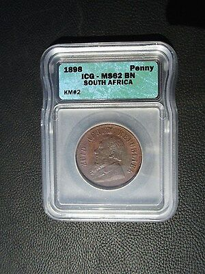 1898 South Africa 1 Penny, ICG MS 62