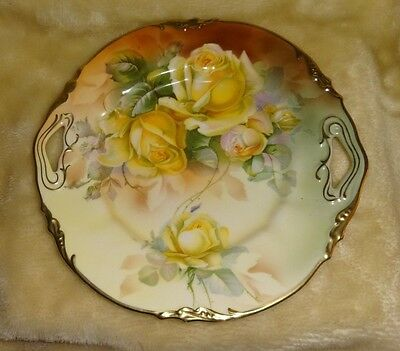 Antique Porcelain Erdmann Schlegelmilch Prufsia Plate Early 1900's 10 inches dia