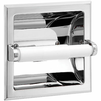 Taymor 02-D101S RECESSED TOILET PAPER ROLL HOLDER CHROME FINISH bathroom parts
