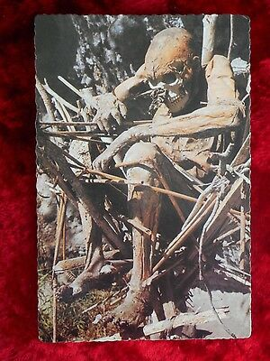 Vintage Smoked Body Aseki Mtn Site  Papua New Guinea Post Card