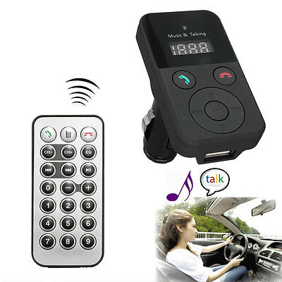 Bluetooth Wireless In-Car Kit Charger FM Transmitter MP3 SD/MMC Remote Control