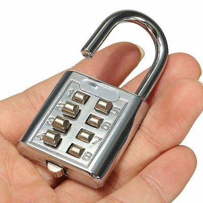 Colorful 8 Digit Push Button Combination Padlock Luggage Security Lock