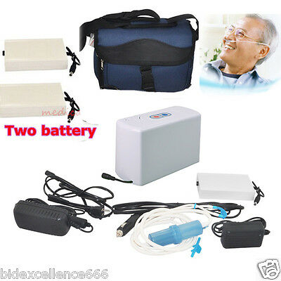 New Carejoy Portable Oxygen Concentrator Generator Home/Travel+2Battery DHL Post