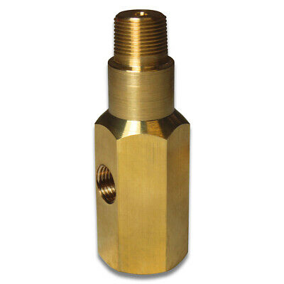 "Saas Adapter Oil Pressure Gauge 1/8 ""- 28 Bspt Npt Brass T Piece Sender 1/8""-28"