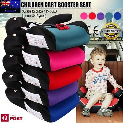 Car Booster Seat Safe Sturdy Baby Child Kid Children Fit 3 To 12 Years Safety