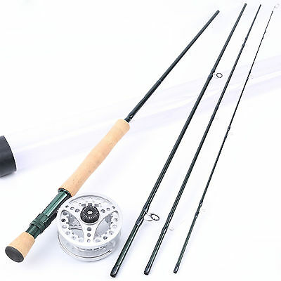 Fly Rod and Reel Combo 5WT 9FT Fly Fishing Rod & Large Arbor Aluminum Reel