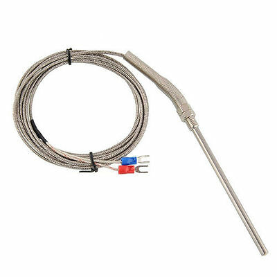 3m/10ft Stainless Steel Probe K type Sensors High Temperature Thermocouple LW