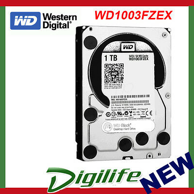 "WD Black 1TB 3.5"" 7200RPM SATA3 Internal Hard Drive WD1003FZEX"