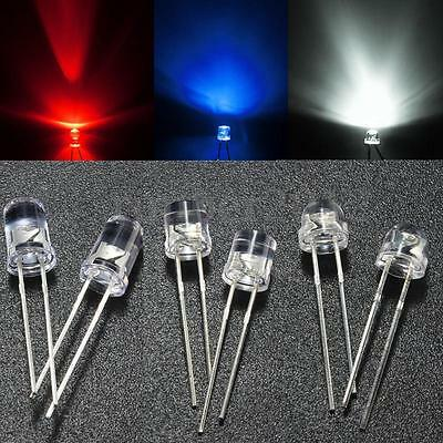 10pcs 50pcs 3mm/5mm 5 Color Water Clear LED Diodes Kit Assortment Lamp DIY US
