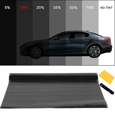 PRO DARK SMOKE 15% CAR WINDOW TINT ROLL 6M x 76CM FILM TINTING
