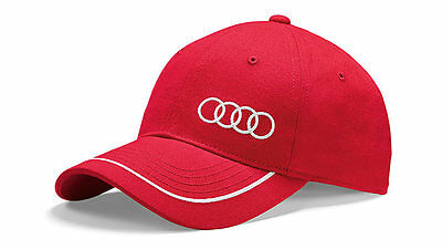 Audi Collection Unisex Baseballkappe, Cap rot