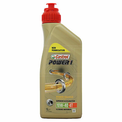 Castrol Power 1 4T 10w-40 Motorcycle 4 Stroke Engine Oil 10W40 1 Litre 1L