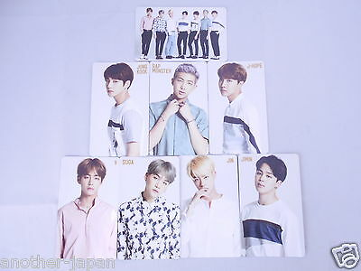 Lot 8 BTS bangtan boys YOUTH Official PhotoCard Trading card full set Complete