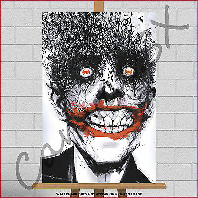 Batman The Joker Large Framed Box Canvas Print Picture Poster Abstract Pop Art