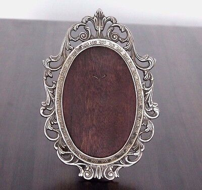 1900's Old Antique Beautiful Design Nickel Polished Cast Brass Mirror Frame #558