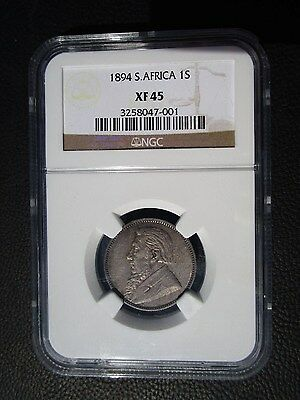 1894 South Africa 1 Shilling, NGC XF 45