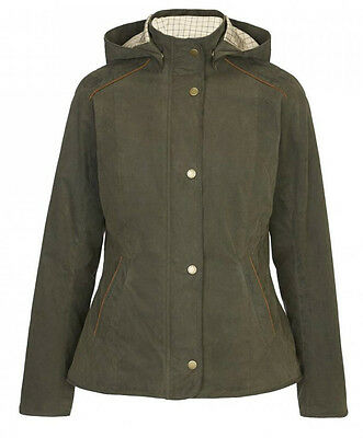Girls Barbour Olive Houghton Waterproof Hooded Jacket Coat XS Age 4/5 Yrs GC2