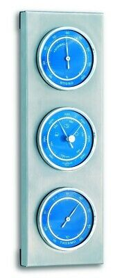 TFA 20.2034.06 Blue Scale 3 Dial Outdoor Analogue Barometer Weather Station