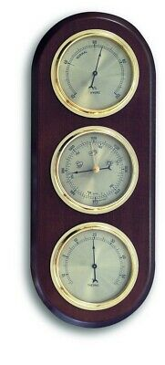 Traditional 3 Dial Indoor Analogue Weather Station (385 mm high)