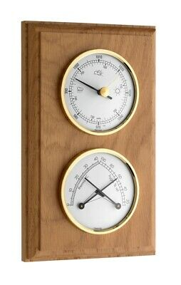 TFA 20.1087.01 Oak 2 Dial Indoor Analogue Weather Station