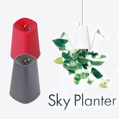 Boskke Sky Planter Recycled Small, rot & schwarz