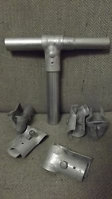 """1 3/8"""" I.D. Galvanized T- Clamps for Chain Link Fence 6 PACK Master Halco Kennel"""