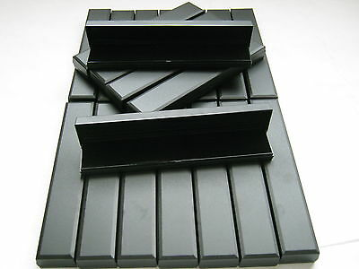 New Joblot 20 X Black Hinged Jewellery Gift Boxes For Bracelets / Watch
