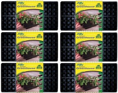 "(6) Pack Jiffy T72H 72 Cell Greenhouse Plant Seed Starter Tray Kit 11""x22"""