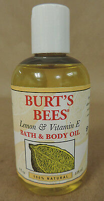 Burts Bees Bath and Body Oil Lemon Vitamin E  and Sweet Almond Oil 4 fl oz