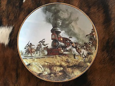 2 Limited Edition Western Collector's Plates by Artist Frank McCarthy