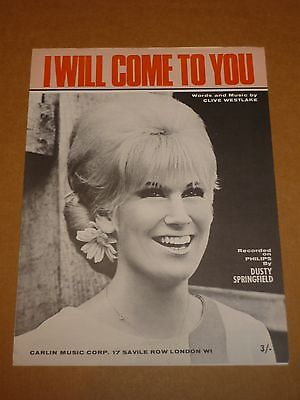 "Dusty Springfield ""I Will Come To You"" MINT sheet music"