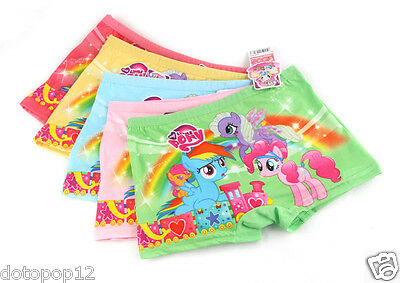 New 10 Pairs My Little Pony Kids Girls' Briefs Panties Underpants Underwear B225