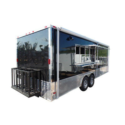 Concession Trailer 8.5 X 24 Black Food Event Catering