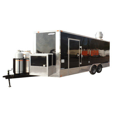 Concession Trailer 8.5 X 20 Black Food Event Catering