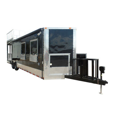 Concession Trailer 8.5' X 28 Black Food Event Catering