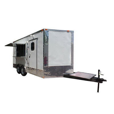 Concession Trailer 8.5' X 16 White Food Event Catering