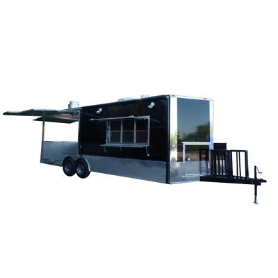 Concession Trailer 8.5x24 Black Food Event Catering