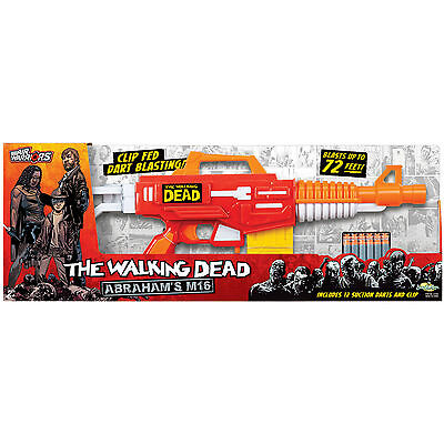 Air Warriors The Walking Dead Abraham's M16 Foam Dart Firing Gun 12 X Darts