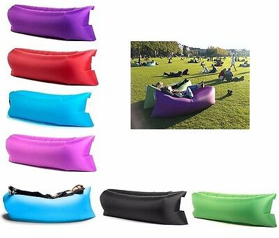 Inflatable Sofa Air Bed Lounger Chair Outdoor Sleeping Bag Mattress Travel Seat