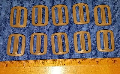 """(Set-10) US Military ITW NEXUS 1"""" Coyote Tan TRI-GLIDE  BUCKLES, Packs Pouches"""