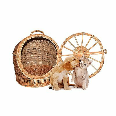 Pet Wicker Carrier Woven cat dog Transport Box Travel Box