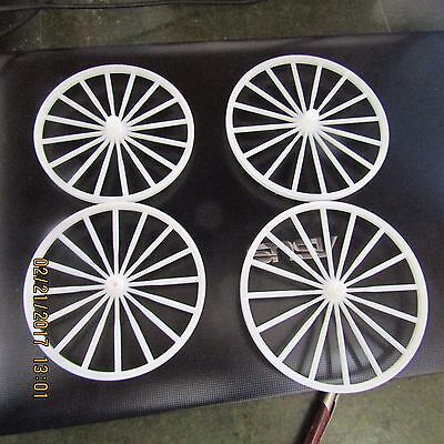 Plastic Model horse drawn buggy wheels from Dick Eighmy Mold.