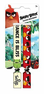 Angry Birds Pack of 2 Festival Wristband Set - 2 Wristbands