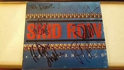 Skid Row Cd Autographed / Signed - Bach Snake Bolan Hill