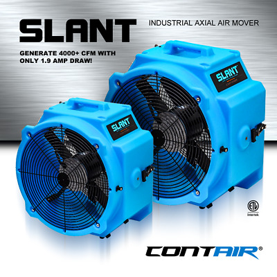 Contair® SLANT 4000 CFM Commercial Axial Air Mover Fan Blower with GFCI Blue