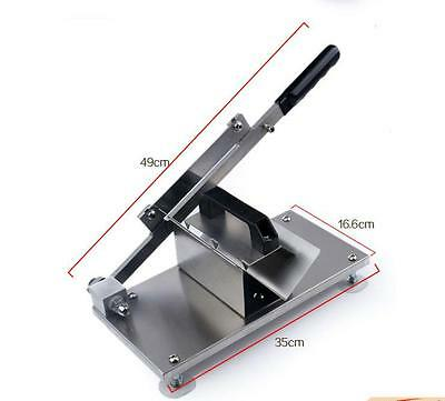 Manual Control Meat Slicer Stainless Cutting Beef Mutton sheet Food Kitchen NEW
