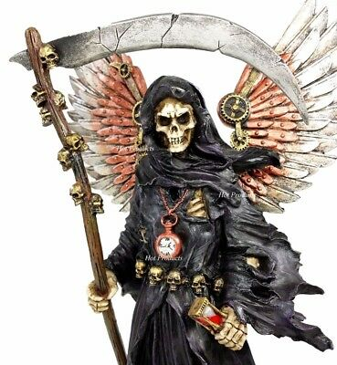 Steampunk Grim Reaper Angel of Death Gothic Fantasy Statue Sculpture Steam Punk